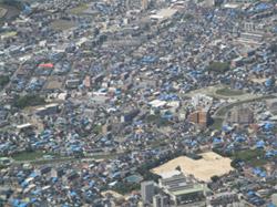上空から見た被災地
