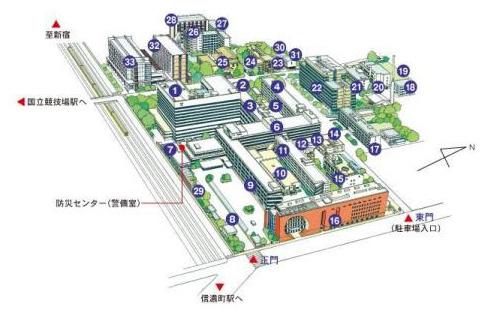 慶應医学部キャンパスマップ