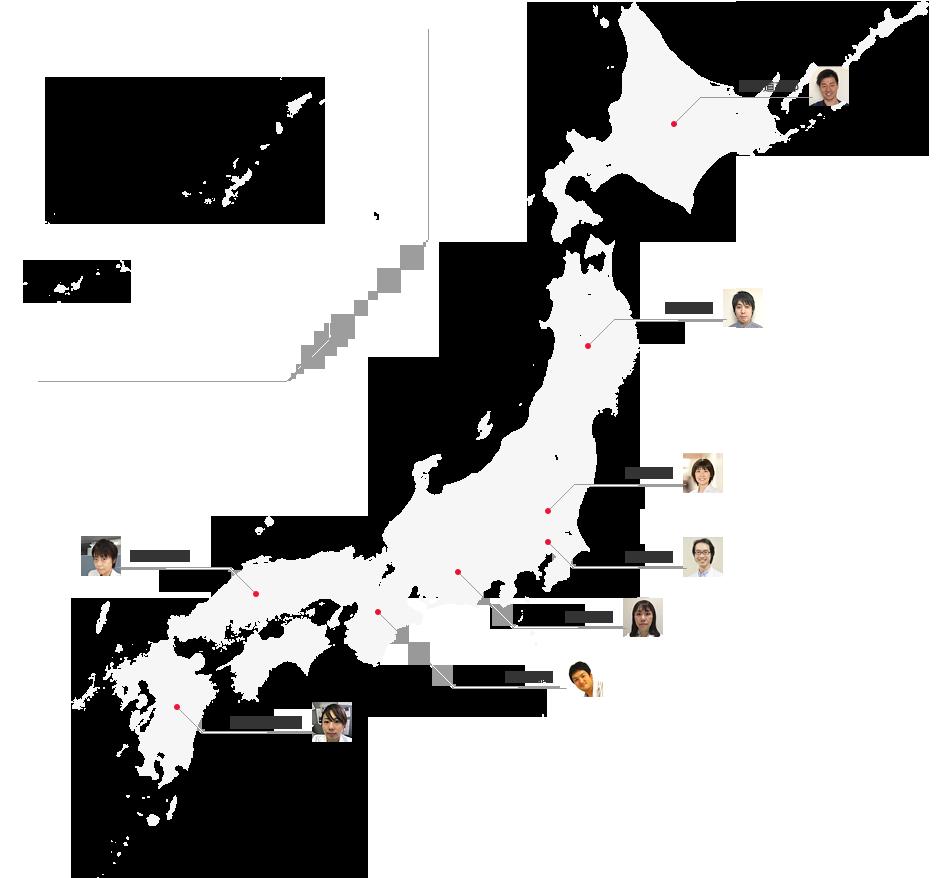 日本心臓血管外科学会 U-40 支部紹介地図