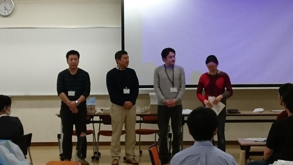 U40 中四国の礎を築いていただいた今回で退任される先生方(右から田口隆浩先生、菅野幹雄先生、森元博信先生、城麻衣子先生)
